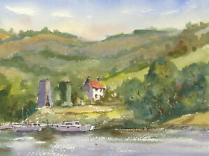 John-A-Case-Contemporary-Watercolour-Looking-into-the-Hills