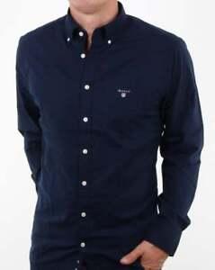 saapuu kenkäkauppa paras hinta Details about Gant Broadcloth Shirt in Marine Blue (Navy) - 100% cotton  button down