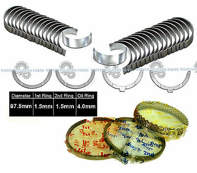 Main Rod Bearings Thrust Washers Fits 88-95 Toyota Pick Up 3.0L V6 SOHC 12v 3VZE