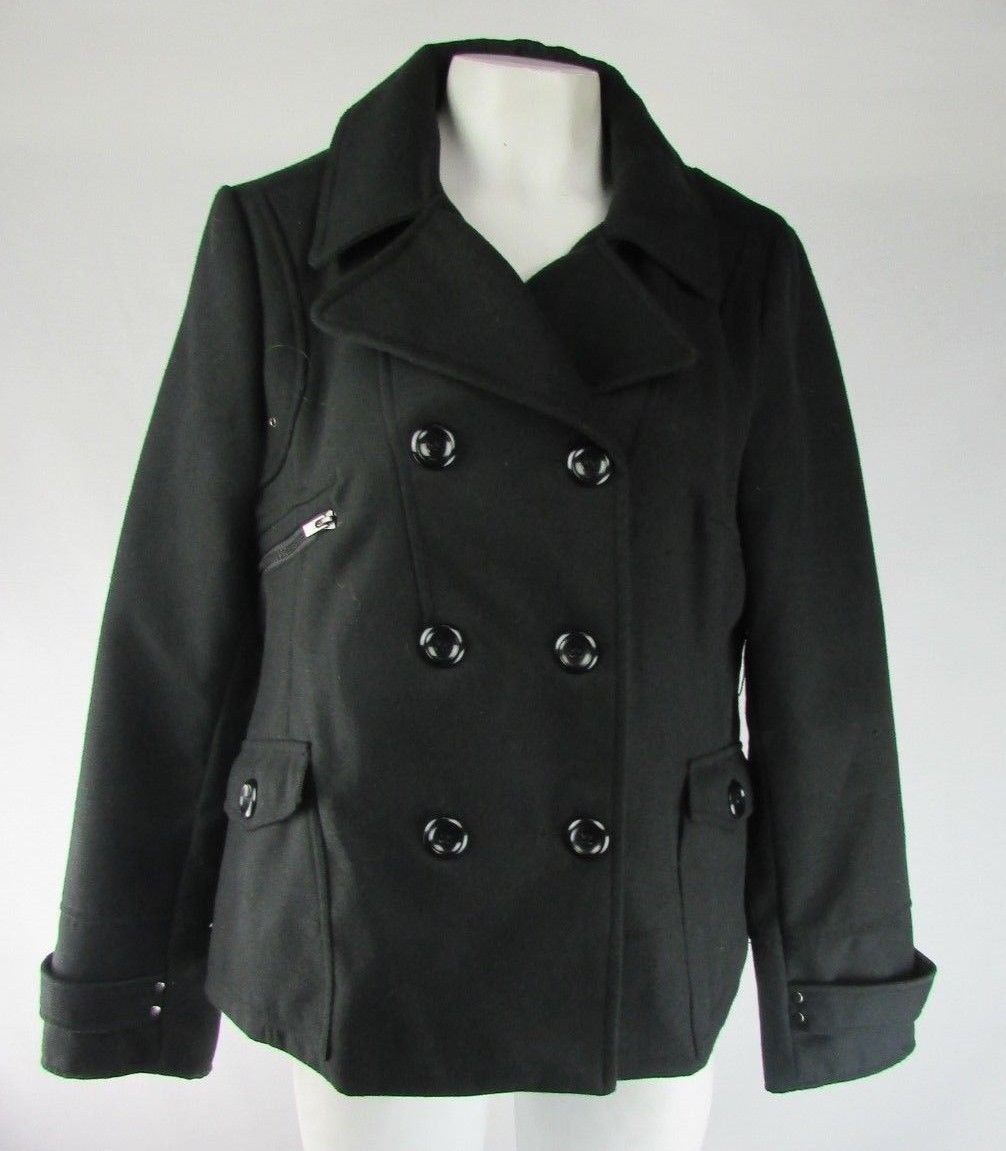 Maralyn & Me Double-Breasted Pea Coat Coat Coat Size XL c305d5