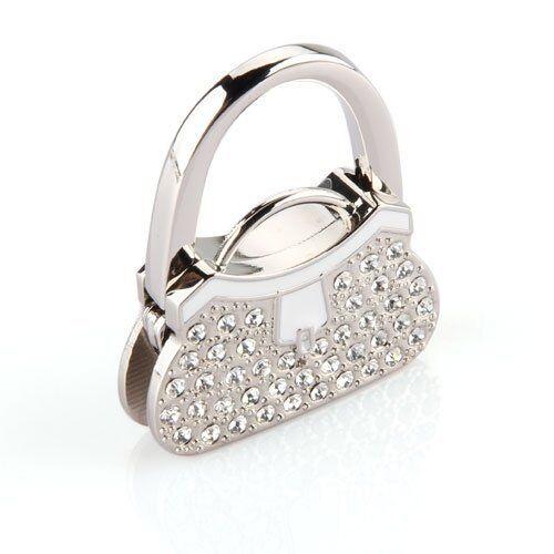 Metal RhInestone Folding Handbag Purse Table Hook Hanger Holder HY