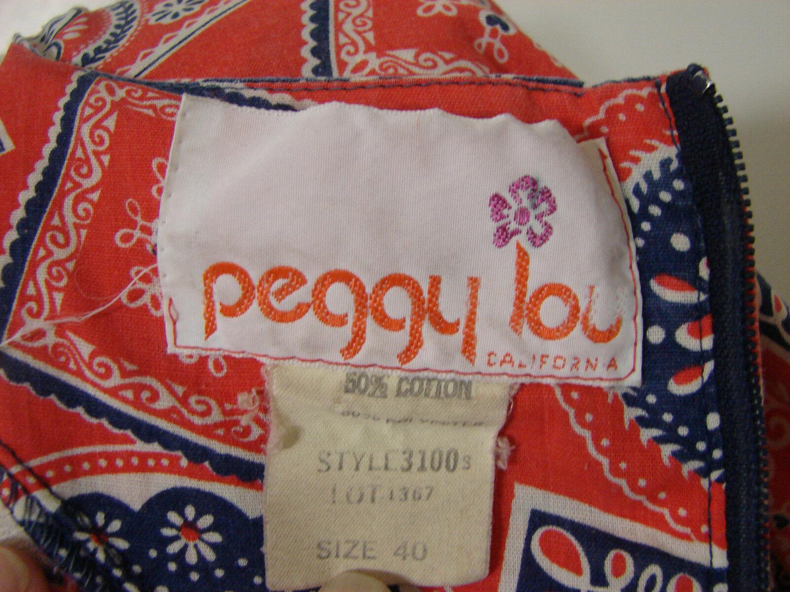 PEGGY LOU Caftan Dress Vintage 1960's Groovy Patc… - image 9
