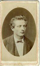 VERNISSE LYON portrait jeune homme gay interest CDV photo circa 1880