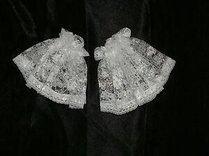 Lace-Cuffs-Short-Frilly-Victorian-Shirt-Ruffles-Ruffs-Georgian-Edwardian-2-Color