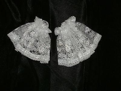 Lace Cuffs Short Frilly Victorian Shirt Ruffles Ruffs Georgian Edwardian 2 Color