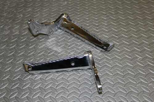 MIRROR POLISHED Yamaha Banshee footpegs foot pegs OEM factory 1987-2006