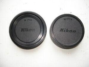 Ensemble bouchons de boitier Nikon et bouchon arrière d'objectif