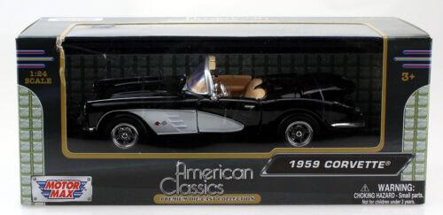 Chevy Chevrolet Corvette 1959 schwarz 1:24 Motor Max Modellauto 73216