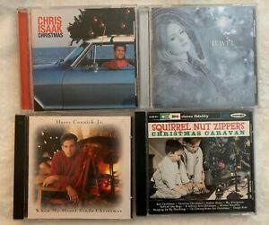 Christmas-CD-039-s-used-lot-4-Chris-Isaak-Jewel-Harry-Connick-Jr-Squirrel-Nut-Zip