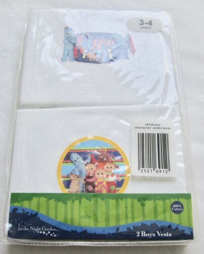 Boys Disney Characters Sleeveless Vest 2 x Pairs Multi Pack 100/% Cotton 3 to10