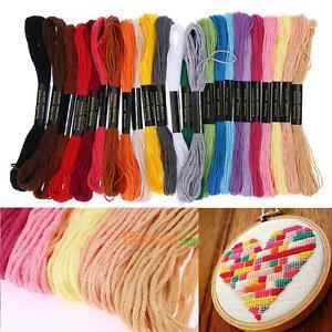 24-Colores-Hilo-de-Bordar-A-Mano-Hilo-de-Coser-Madejas-artesania-punto-de-cruz-caliente