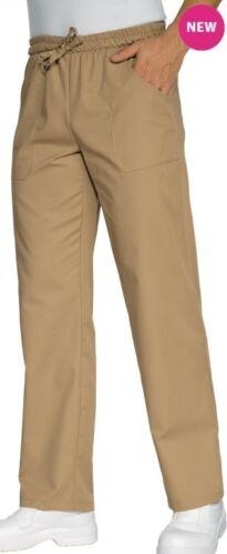 Pantaloni Da Lavoro con elastico e coulisse in vita BEIGE X Cuoco Chef Bar uomo