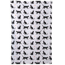 100% COTTON I LOVE MY CAT TEA TOWEL Black and White Gift Kitchen 69cm x 46cm NEW