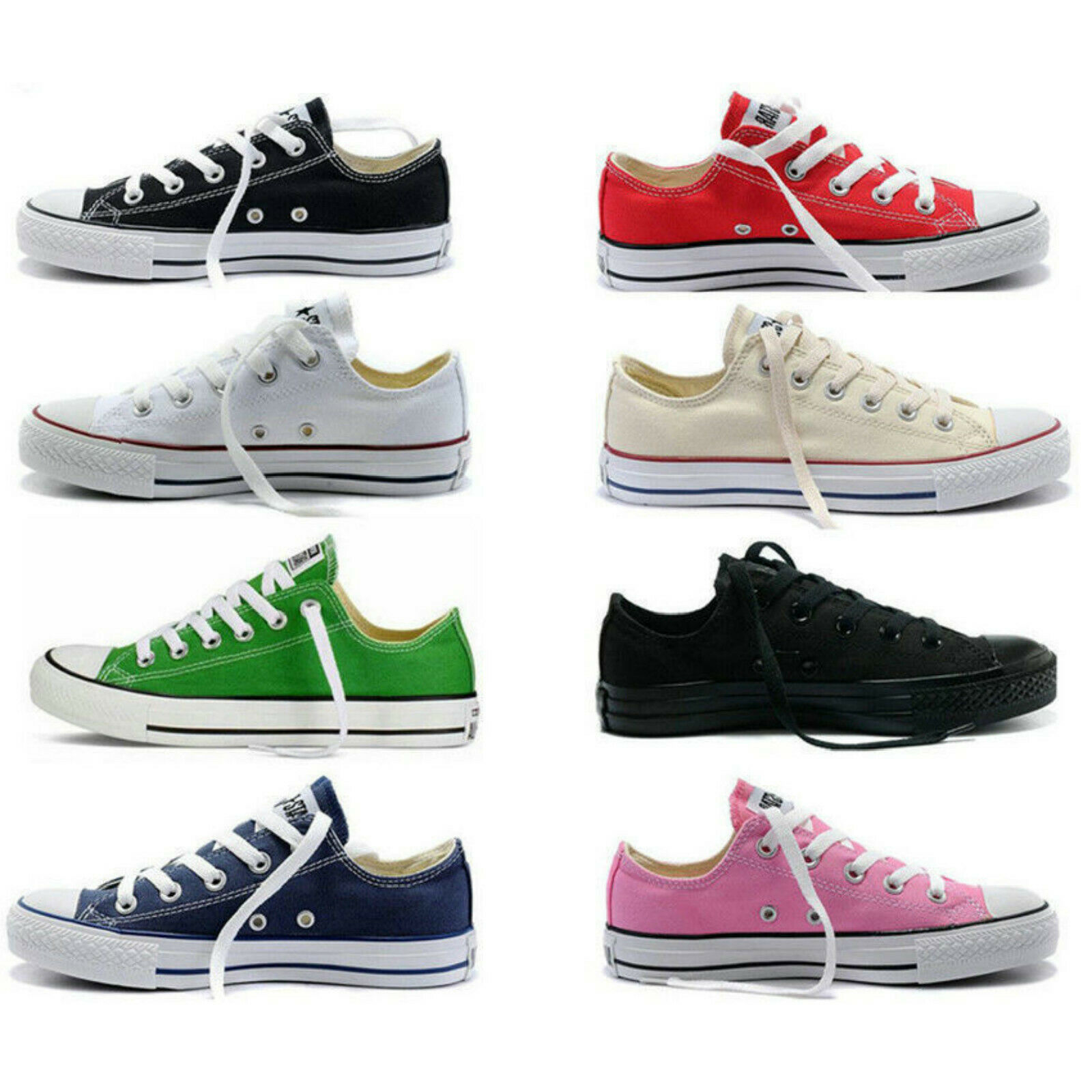 Womens Mens Authentic Classic Athletic Sneakers Low High Top Casual Canvas Shoes 2