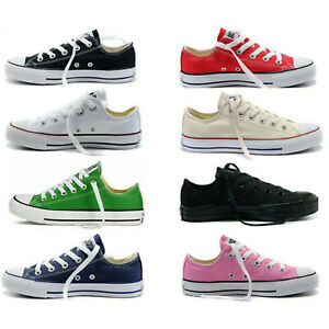 Womens-Mens-Low-High-Top-Casual-Canvas-Shoes-Authentic-Classic-Athletic-Sneakers