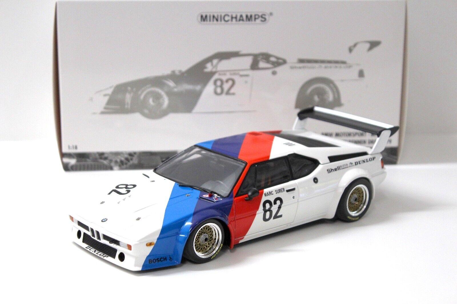 1 18 Minichamps BMW m1 Provoiture M. Surer DRM  1979  82 nouveau chez Premium-modelvoitures  parfait
