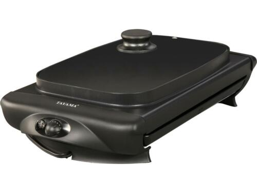 ** OPEN BOX ** Tayama TG-821 Electric Griddle with Glass Cover Black