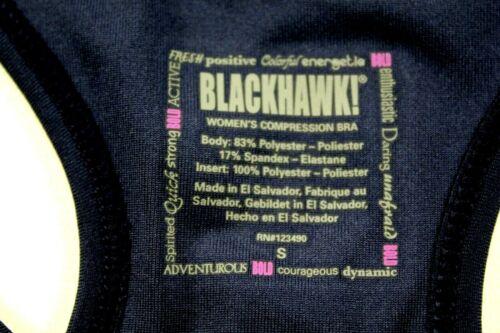 BLACKHAWK 3 Pack Women/'s Navy Medium Compression Bra/'s