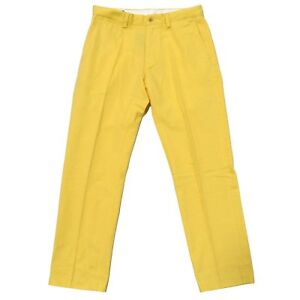 Wicket 35 Ralph Polo 32l Slim pantaloni Lauren Chino Fit piatto davanti giallo 36w HPxwH8q