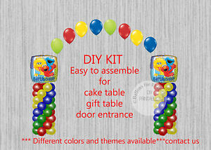 Image Is Loading Sesame Street BALLOON ARCH COLUMNS Birthday Party Decorations