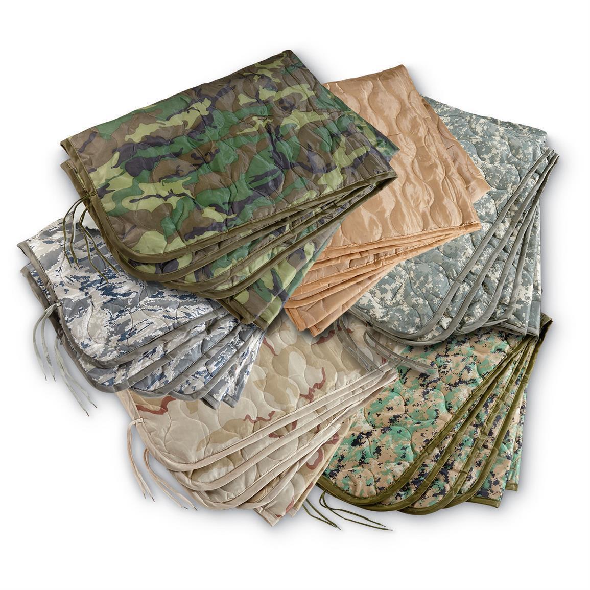 US Military Surplus Poncho Liner Blanket Woobie Ripstop Nylon Shell Polyester