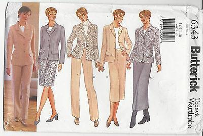 UNCUT UNUSED SEWING PATTERN womens JACKET SKIRT & PANTS Bust 34-38 inch 87-97 cm