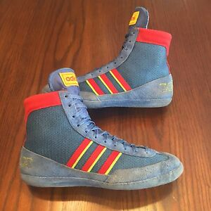 RARE Adidas West German Combat Speed Wrestling Shoes - Size 9-9.5