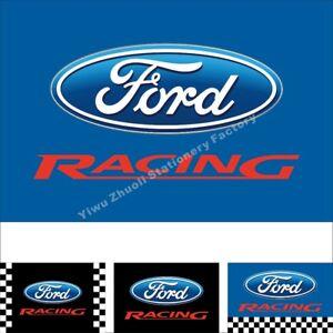Car Flag Ford Racing 3X2FT 5X3FT 6X4FT 8X5FT 10X6FT 100D Polyester Banner
