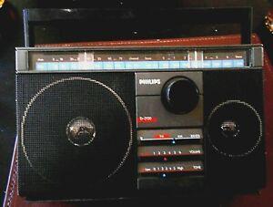 PHILIPS-TRANSISTOR-RADIO-D-2120-1980s-AM-FM