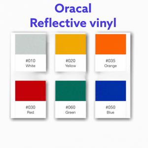 "3 Rolls 12/"" x 10 FT  Reflective Vinyl  red orange yellow    USA Oracal Oralite"