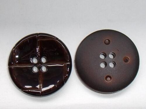 8 Stück Knöpfe Knopf Trachtenknopf Lacklederoptik  dunkelbraun 28 mm NEU #034#