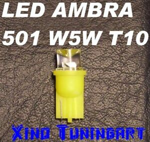Light-Bulbs-LED-Amber-Yellow-T10-Reversed-W5W-For-Arrows