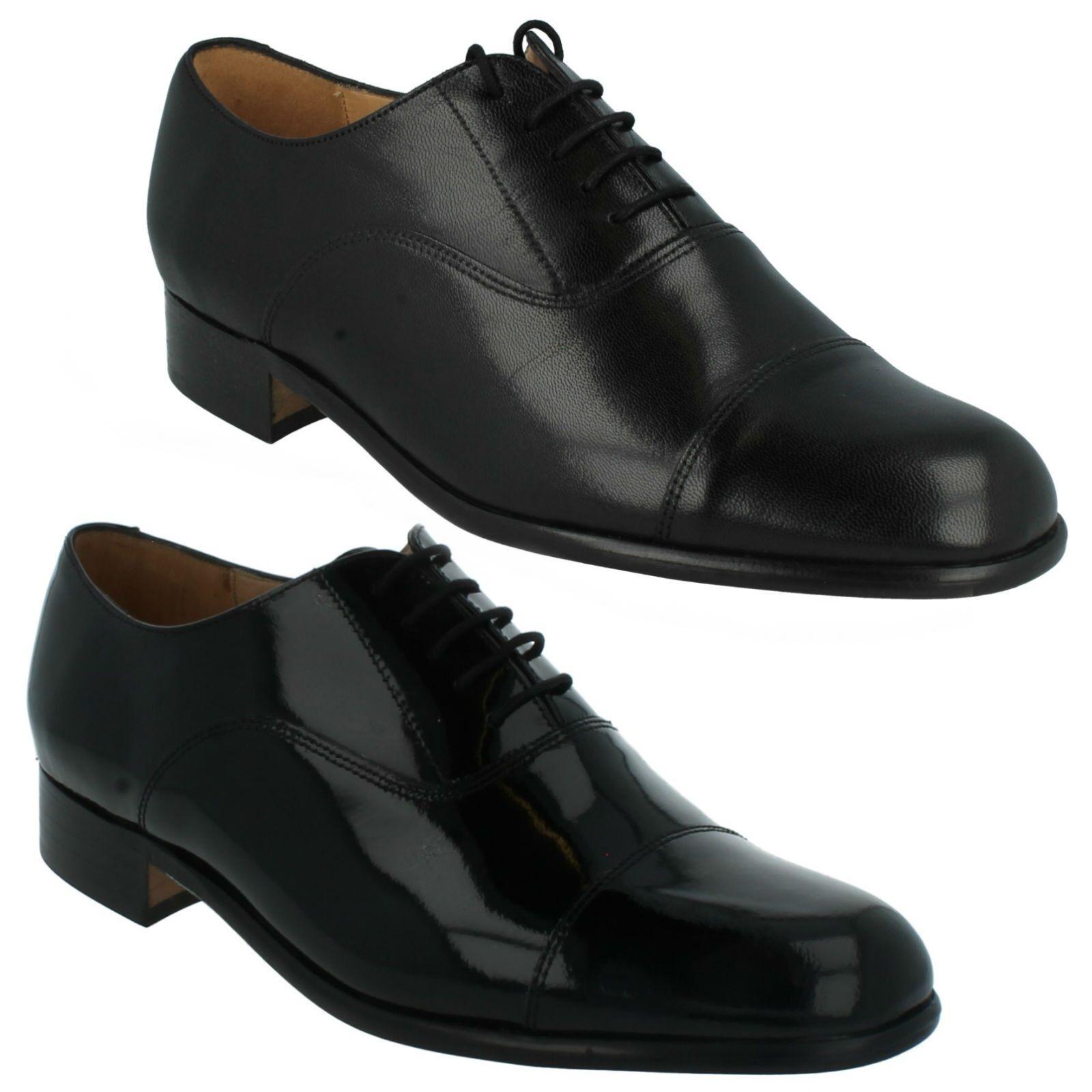 Mens Grenson Smart Formal Lace Up Work shoes Paddington Black Leather Patent