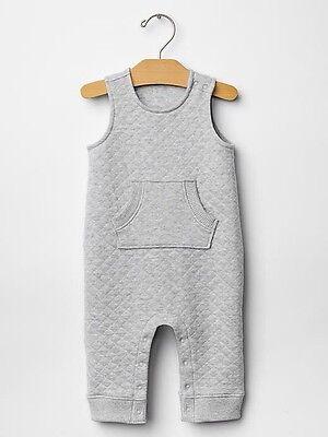 Smiley Face One-Piece Bodysuit Shirt GAP Baby Boy Size Newborn Gray Happy