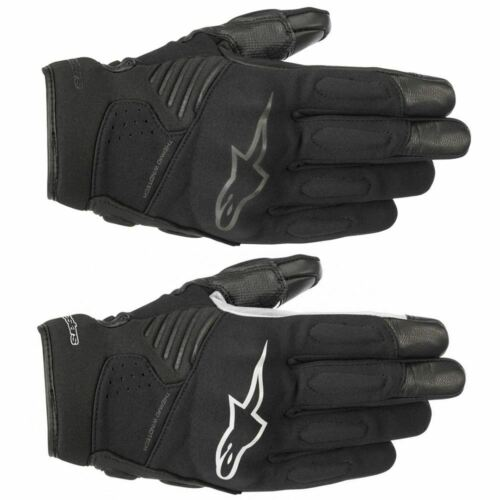 Alpinestars Faster Short Touring CE Motorcycle Motorbike Gloves Black White