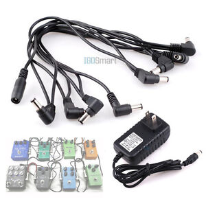 hot guitar effect pedal 8 way daisy chain power supply cable 2a 9v dc adapter 826964547548 ebay. Black Bedroom Furniture Sets. Home Design Ideas