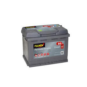 Batterie démarrage voiture Fulmen FA640 12v 64ah 640A 242x175x190mm varta D15