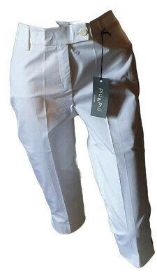 Pantalone Capri Bermuda Pinochietto Donna Elegante Bianco Leggero Piu'&piu' 44 Merci Di Alta Qualità