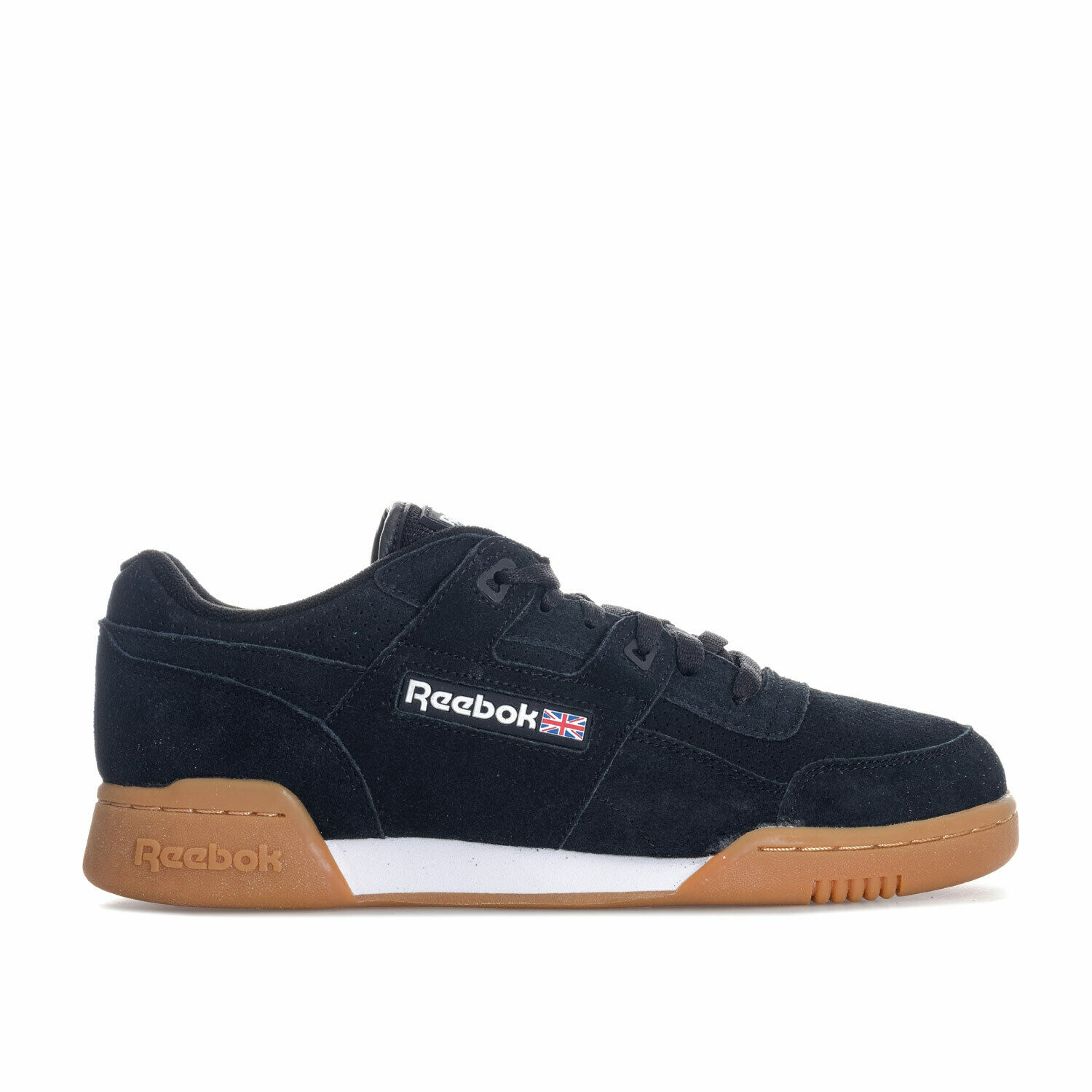 Reebok Workout Plus Trainers Black Gum Earth Trainers Shoes UK 9