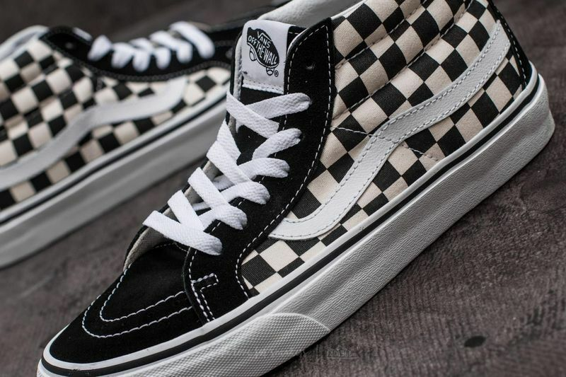 New mens 10 or 10.5 vans sk8 mid reissue checkerboard white vn0A391FQXH