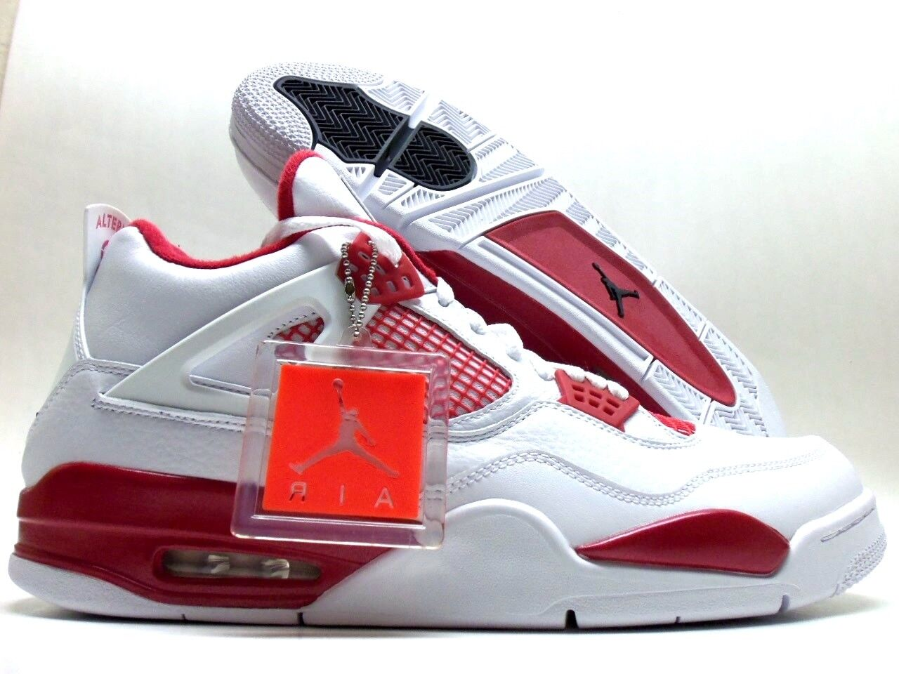 Nike air jordan 4 '89 bianco / rosso alternativo nero-gym sz uomini 14 [308497-106]