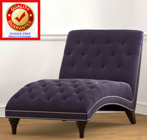 Image Is Loading Chaise Lounger Velvet Purple Chaise Lounge Chair Sofa