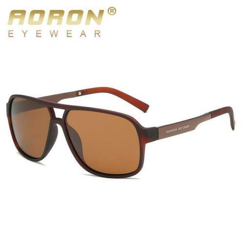 Men Fashion Polarized Sunglasses Square Frame Outdoor Driving Fishing Glasses