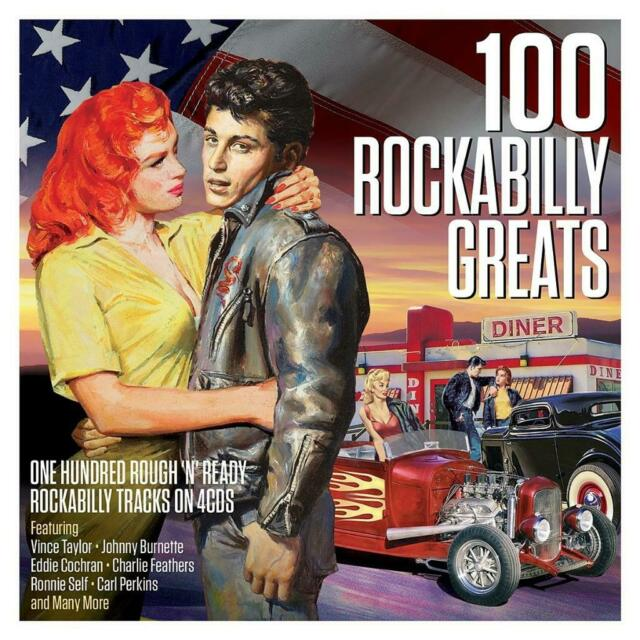 100 ROCKABILLY GREATS - VARIOUS ARTISTS (NEW SEALED 4CD)