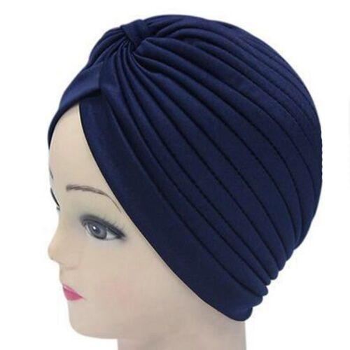 Turban Hut Kappe Hijab Haarband Kopftuch Gewickelt Haare Indian Einfarbig