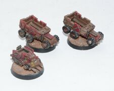 Warhammer 40K 3 Epic Space Ork Trukks Painted Metal OOP b