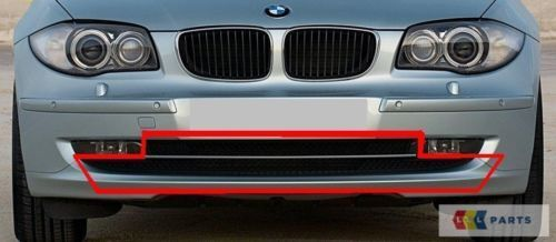 BMW Neu Original 1 Serie E81 E87 LCI 08-12 Vorne Stoßstange Mitte Unten Gitter