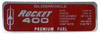 1967 Oldsmobile Rocket 400 Valve Cover Decal