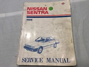 factory nissan service manual for 1988 sentra b12 used ebay rh ebay com Nissan Sentra B11 nissan sentra model b12 series 1987 service manual