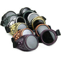 Hot! New Victorian Vintage Steampunk Glasses Goggles Welding Punk Gothic Cosplay